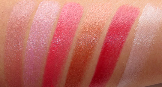 mac sheen supreme lipstick swatches with the flash