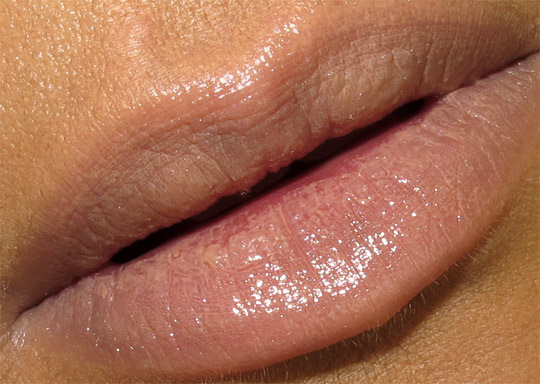 mac viva glam gaga 2 lipglass swatch closeup