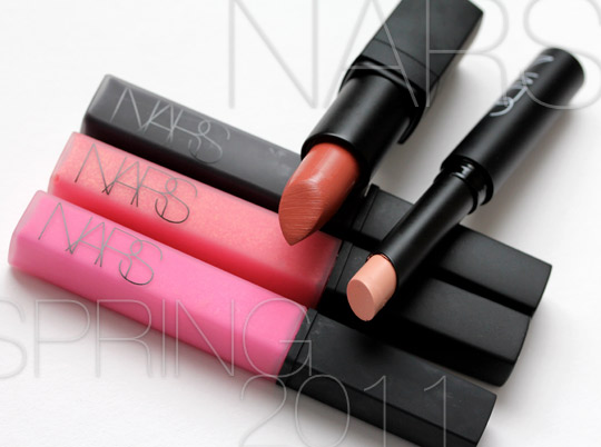 nars spring 2011 lip gloss and lipsticks