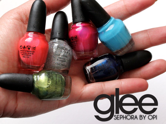 sephora glee collection swatches top