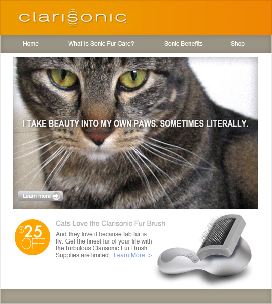Tabs for the Clarisonic Fur Brush