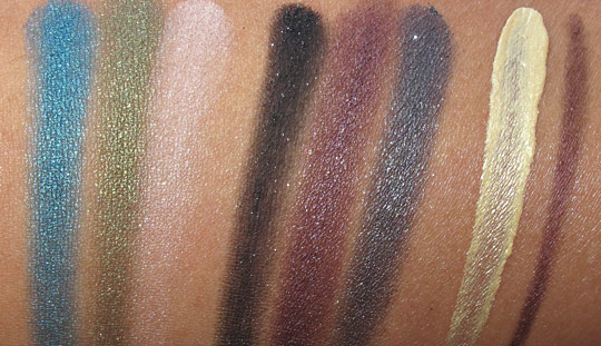 urban decay ud dangerous palette swatches with flash