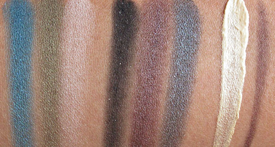 urban decay ud dangerous palette swatches without flash