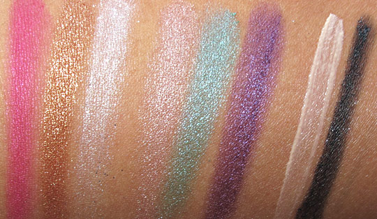 urban decay ud fun palette swatches with the flash