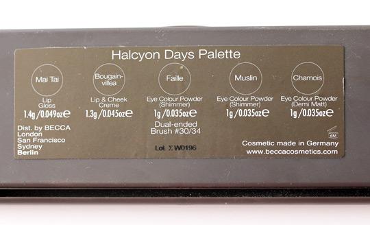 becca halcyon days palette
