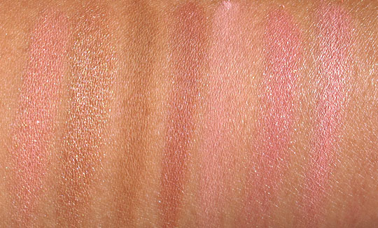 benefit blush swatches without flash