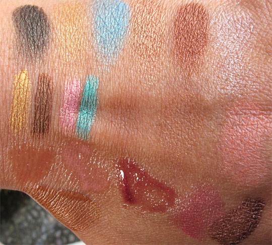estee lauder bronze goddess 2011 swatches without the flash