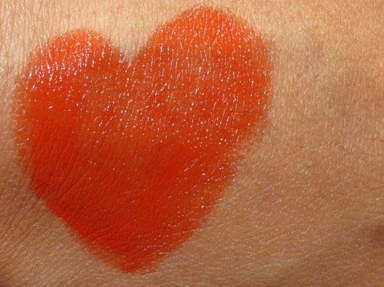 givenchy rouge inderdit in candide tangerine swatch