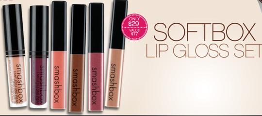 smashbox softbox lip gloss collection