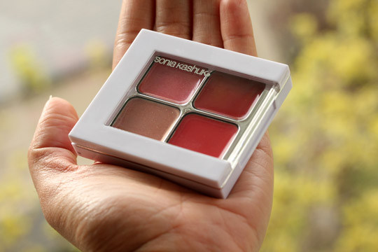 sonia kashuk beautiful berries lip quad in hand