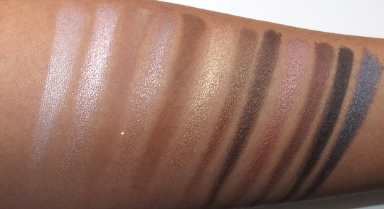 urban decay naked swatches with the flash