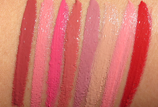 Bare Minerals Pretty Amazing Lipcolor swatches without
