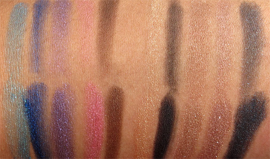Milani Baked Eyeshadow Swatches swatches without the flash