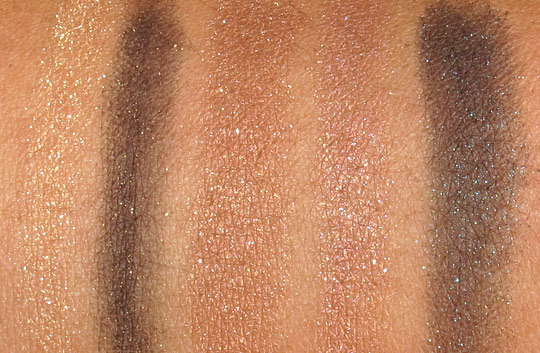 Milani Baked Eyeshadow Swatches marbelized applied dry