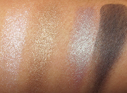 NARS Summer 2011 swatches exotic dance dogon