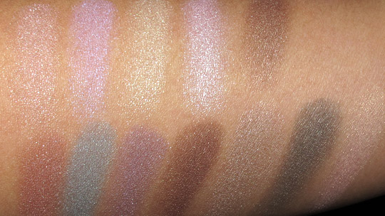 benefit velvet eyeshadow swatches with the flash