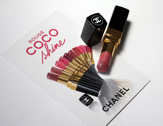 chanel rouge coco shine swatches