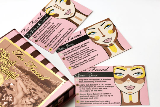 too faced bronzed beautiful french riviera cards