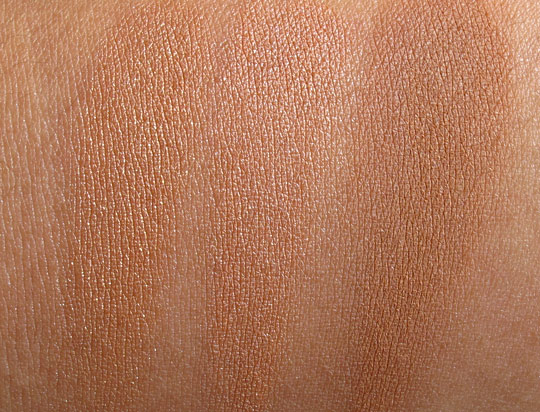 urban decay baked bronzer swatches dry without flash