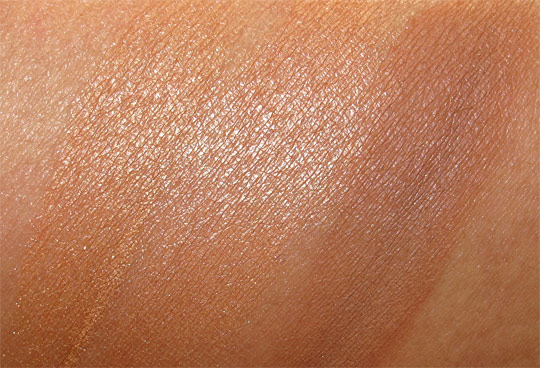 urban decay baked bronzer swatches wet with flash