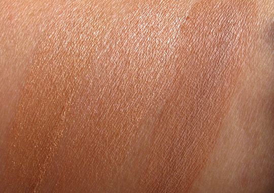 urban decay baked bronzer swatches wet without flash
