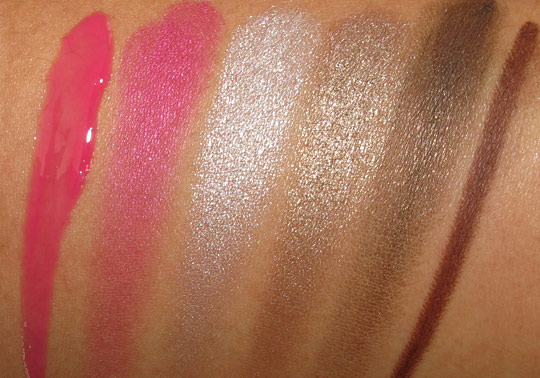urban decay rollergirl palette swatches with flash