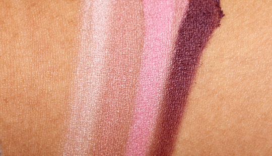 LOccitane Pivoine Flora makeup collection petal quad swatches