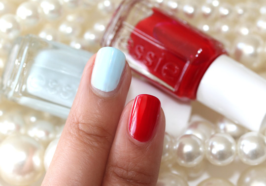 essie wedding collection swatches borrowed blue first dance