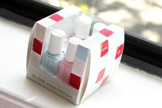essie wedding collection swatches in box