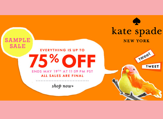 Kate Spade Sample Sale: Select Items Up to 75% Off ...