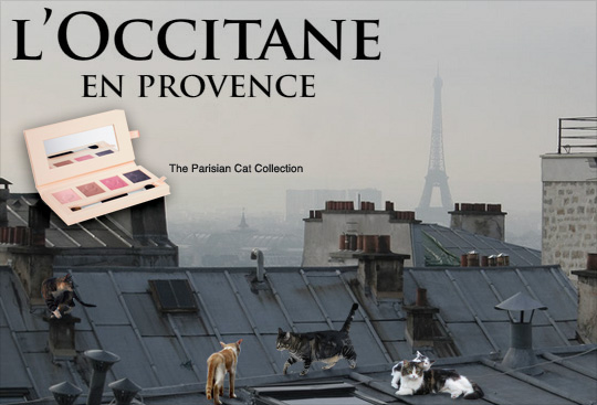Tabs for the L'Occitane Parisian Cats Collection