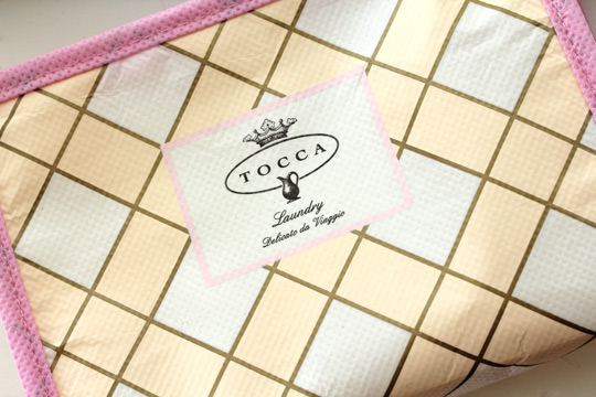 tocca laundry bag closeup