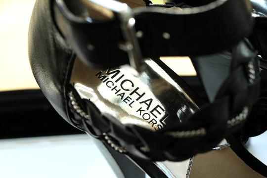 Michael Kors Braided Chain Platform Sandal