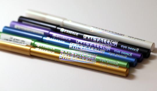 essence metallic eye pencils
