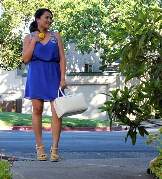 Summer Dress with Yellow Heels