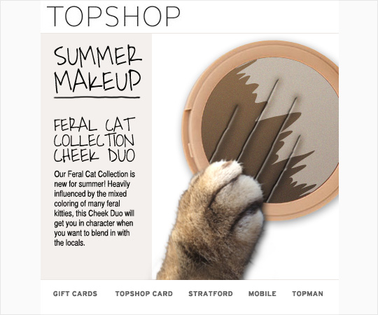 Tabs for the Topshop Feral Collection