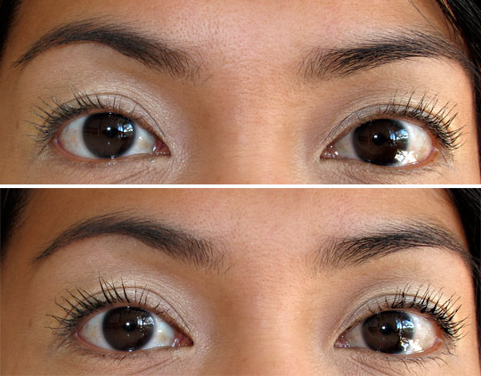 hourglass film noir lash lacquer before and after