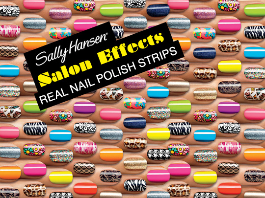 Making Nail Art Easy With Sally Hansen Salon Effects Real Polish Strips