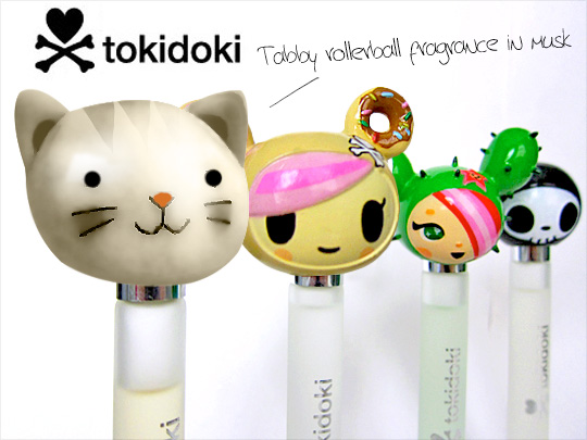 Tabs for the Tokidoki Tabby Rollerball Fragrance