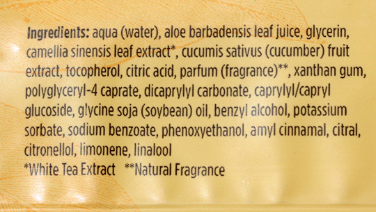 burts bees facial cleansing towelettes ingredients