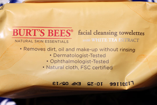 burts bees facial cleansing towelettes