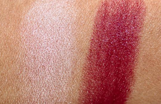 guerlain belle de nuit swatches powder lipstick