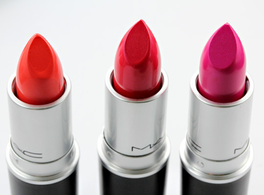 mac fall colour collection lipsticks