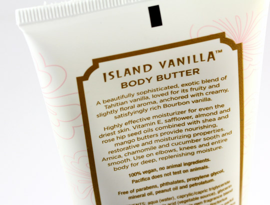 pacifica island vanilla body butter back
