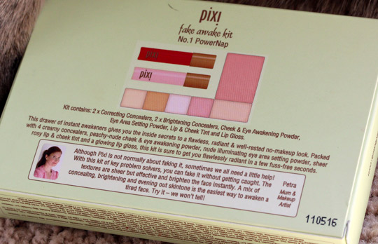 pixi fake awake kit box back