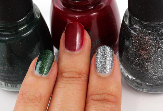 china glaze glittering garland winter berry tinsel town
