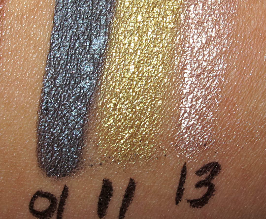 make up for ever aqua cream wild chic swatches