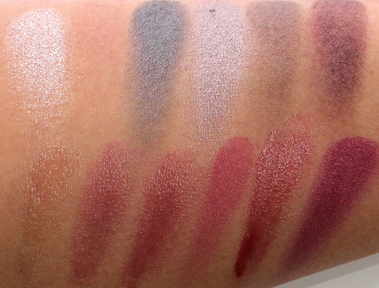 sonia kashuk prepping for the party lip eye palette swatches