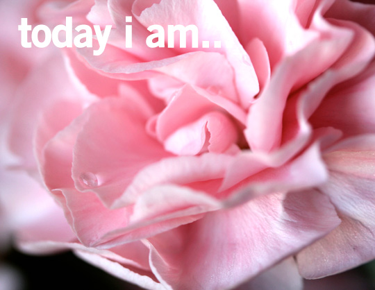 today i am