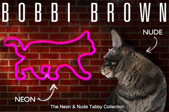 Tabs for the Bobbi Brown Neon & Nude Collection